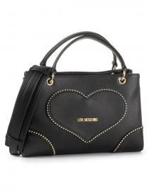 LOVE Moschino - Heart Studded Tote Shoulder Bag