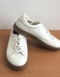 zara white sneakers with brown sole 3