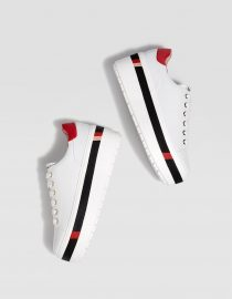 Stradivarius White Sneaker With Black and Red 1