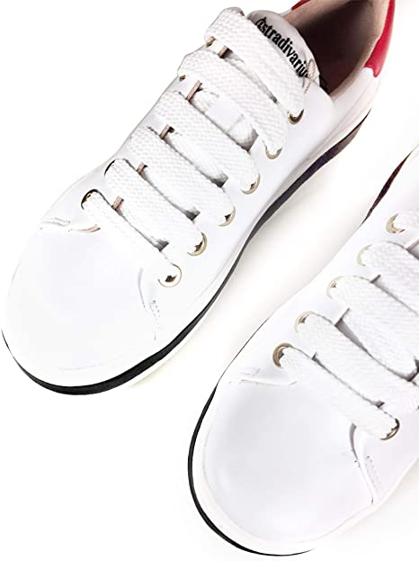 Stradivarius White Sneaker With Black and Red 4